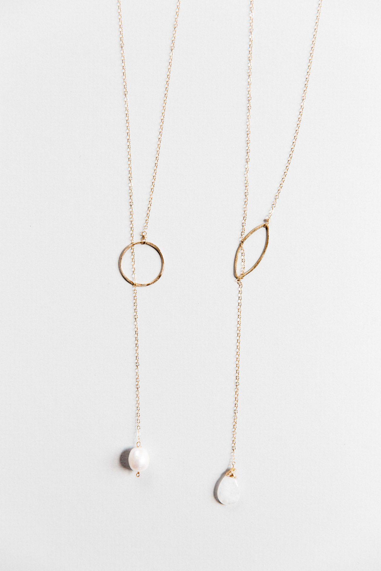 Single Pearl Lariat JK Designs Jewelry